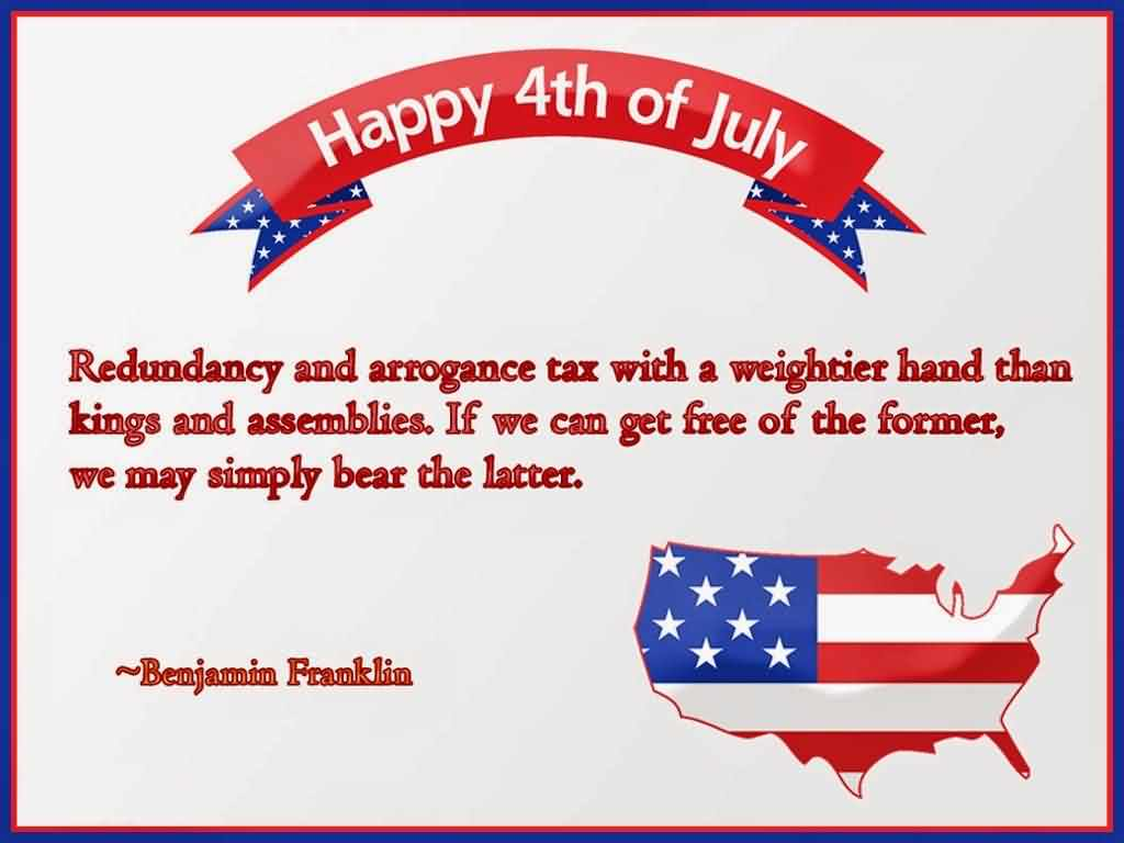 Happy 4th Of July Independence Day Quotes By Benjamin Franklin Quotes Image