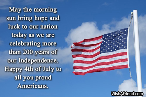 Happy 4th Of July To All You Proud Americans Wishes Quotes Image