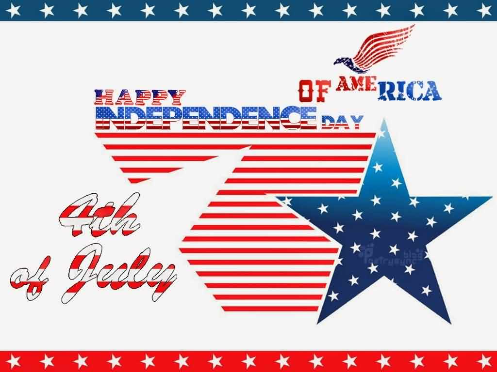 Happy Independence Day 4th Of July Wishes Message Wallpaper