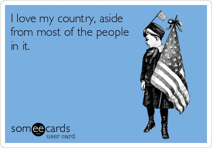 I Love My Country Happy Independence Day 4th Of July Greetings Message Card Image