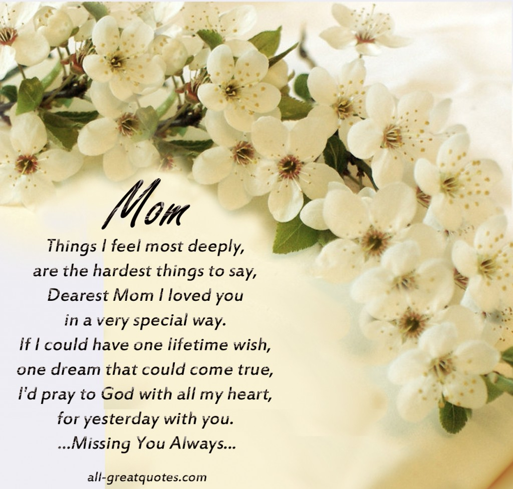 In Loving Memory Quotes For Mom