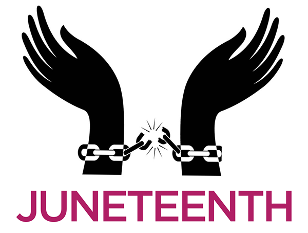 Juneteenth Breaking Chain Clipart Image