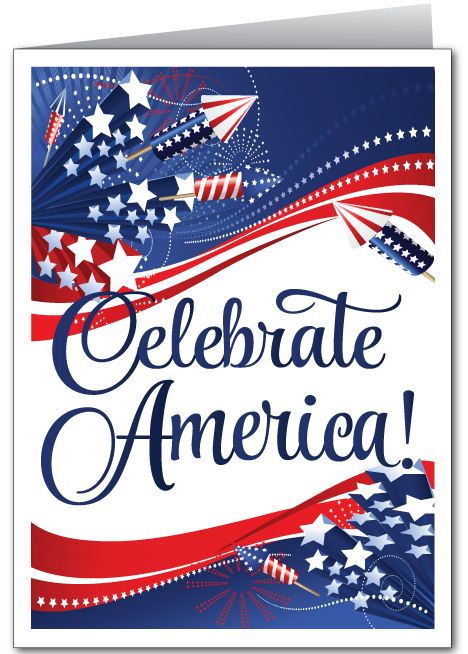 Let Celebrate 4th July Greetings Card Image