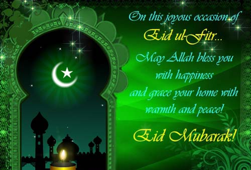 Warmth And Peace Eid al-Fitr Greetings Wishes Message Image