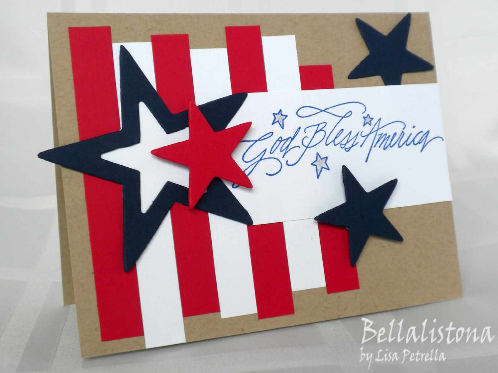 Wish You Happy 4th July Greetings Card Idea Image