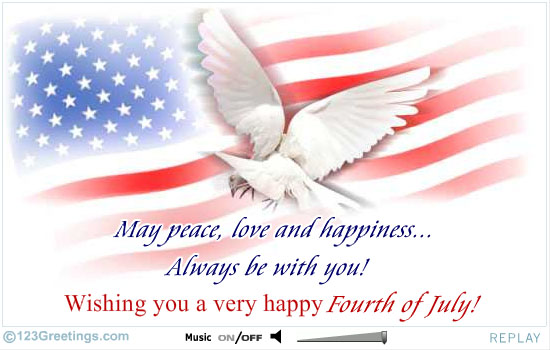 Wishing You A Very Happy 4th Of July Greetings Wishes Image