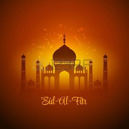 Wonderful Eid al-Fitr Greetings Card Image