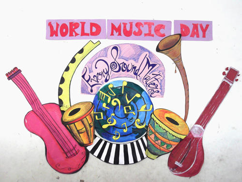 International Music Day Every Sound Matters Wishes Card Image