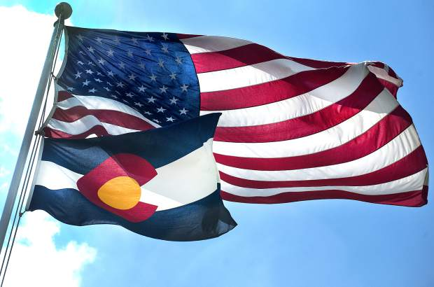 Colorado Day Greetings Waving Flag Wallpaper