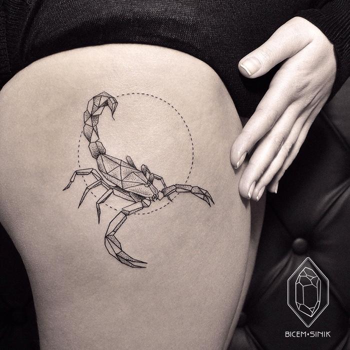 08 Minimalist Geometric Tattoos by Bicem Sinik