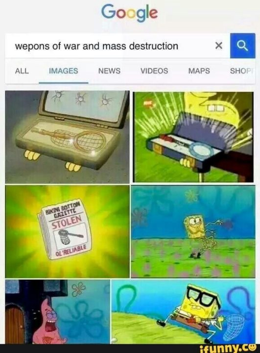 Dank Memes Spongebob Weapons of war and