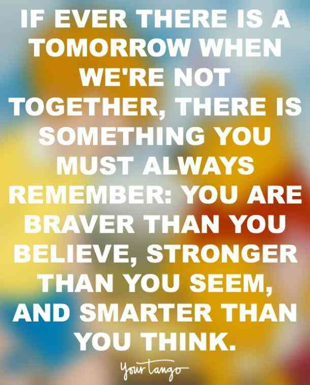 If ever there is a tomorrow when we're