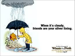 when it's cloudy friends are