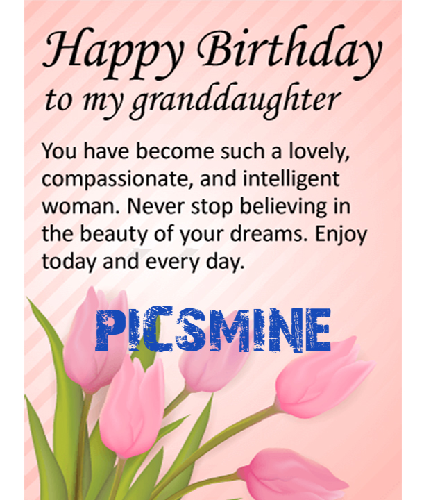 You have Become such a lovely Happy Birthday To My Granddaughter